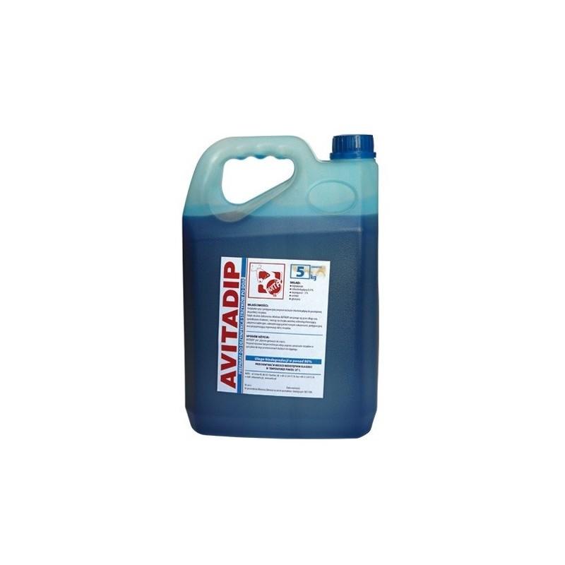 Avitadip 5 l.-płyn do poudojowej dezynfekcji strzyków 5 litrów