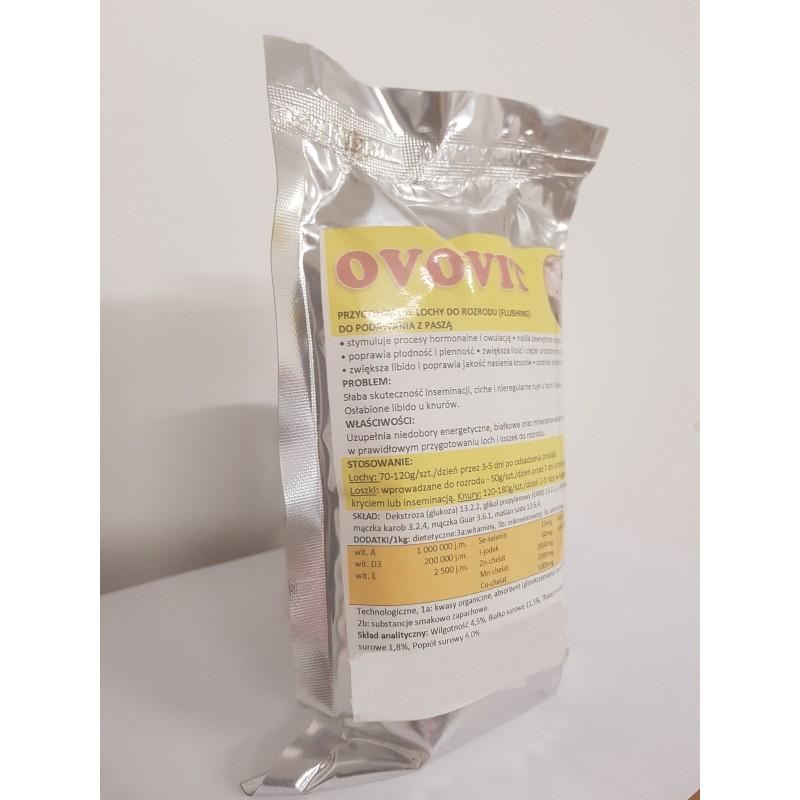 Ovovit- na płodność i plenność u loch,Stymuluje procesy hormonalne i owulację. Nasila zewnętrzne objawy rui,