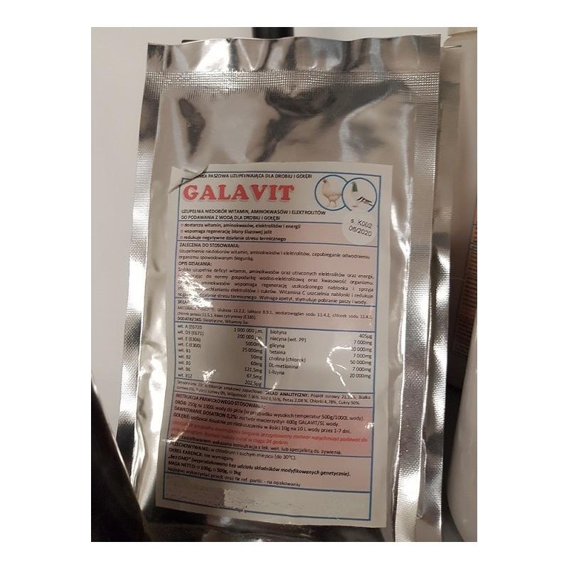 Galavit-witaminy elektrolity aminokwasy dla drobiu gołębi